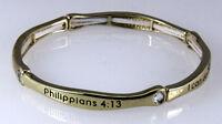 4030659 Philippians 4:13 Stacking Stretch Bracelet Stackable Scripture Phil I... on sale