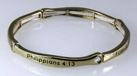 4030659 Philippians 4:13 Stacking Stretch Bracelet Stackable Scripture Phil I...