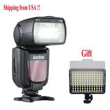 US Godox TT685S TTL Camera Flash Speedlite 1/8000s for Sony + Video LED Light