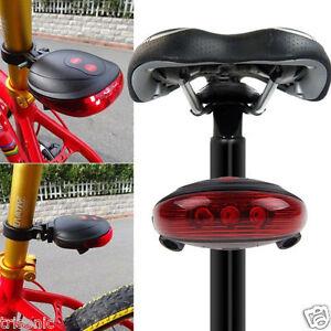 2 Laser 5 LED Bike Rear Tail Lamp Cycling Bicycle Safety Flashing Warning Light