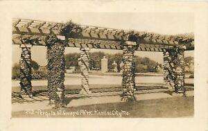 Kansas-City-Missouri-Pergola-Swope-Park-Real-Photo-Postcard-c1910