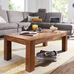 Massiver Couchtisch Patan 110 X 60 Cm Sheesham Holz Tisch Massiv
