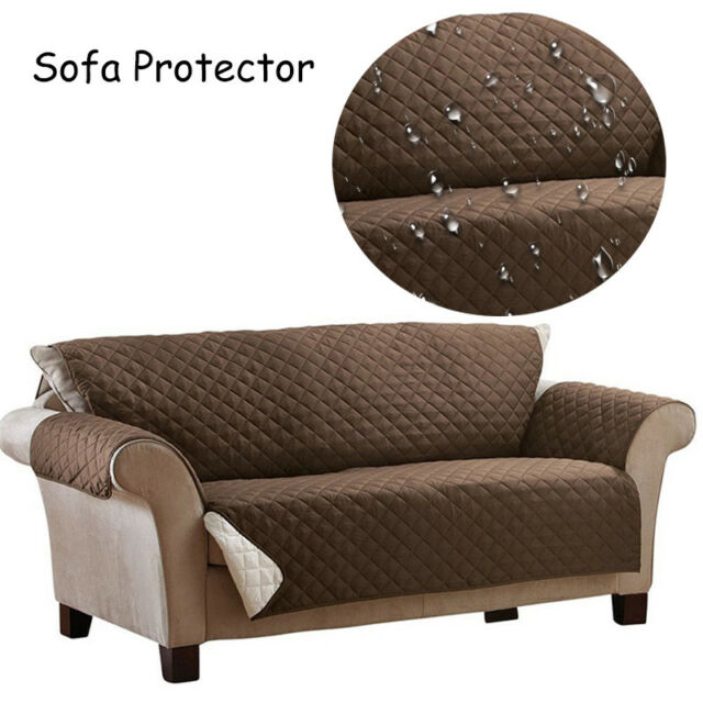 Waterproof Sofa Protector Cover Non Slip Armchair Couch Furniture Protection Mat
