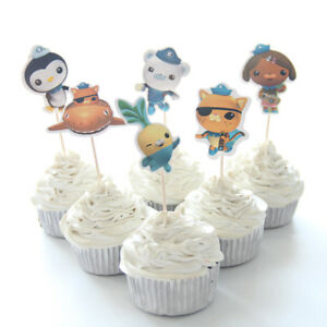 Image Is Loading OCTONAUTS CAKE TOPPERS PICKS Birthday Party Kwazii Peso