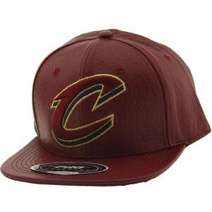 585e7b129b3 Pro Standard NBA Cleveland Cavaliers C Logo Leather Adjustable Cap ...