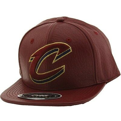 2019 Moda Pro Standard Nba Cleveland Cavaliers C Logo Pelle Cappuccio Regolabile Color
