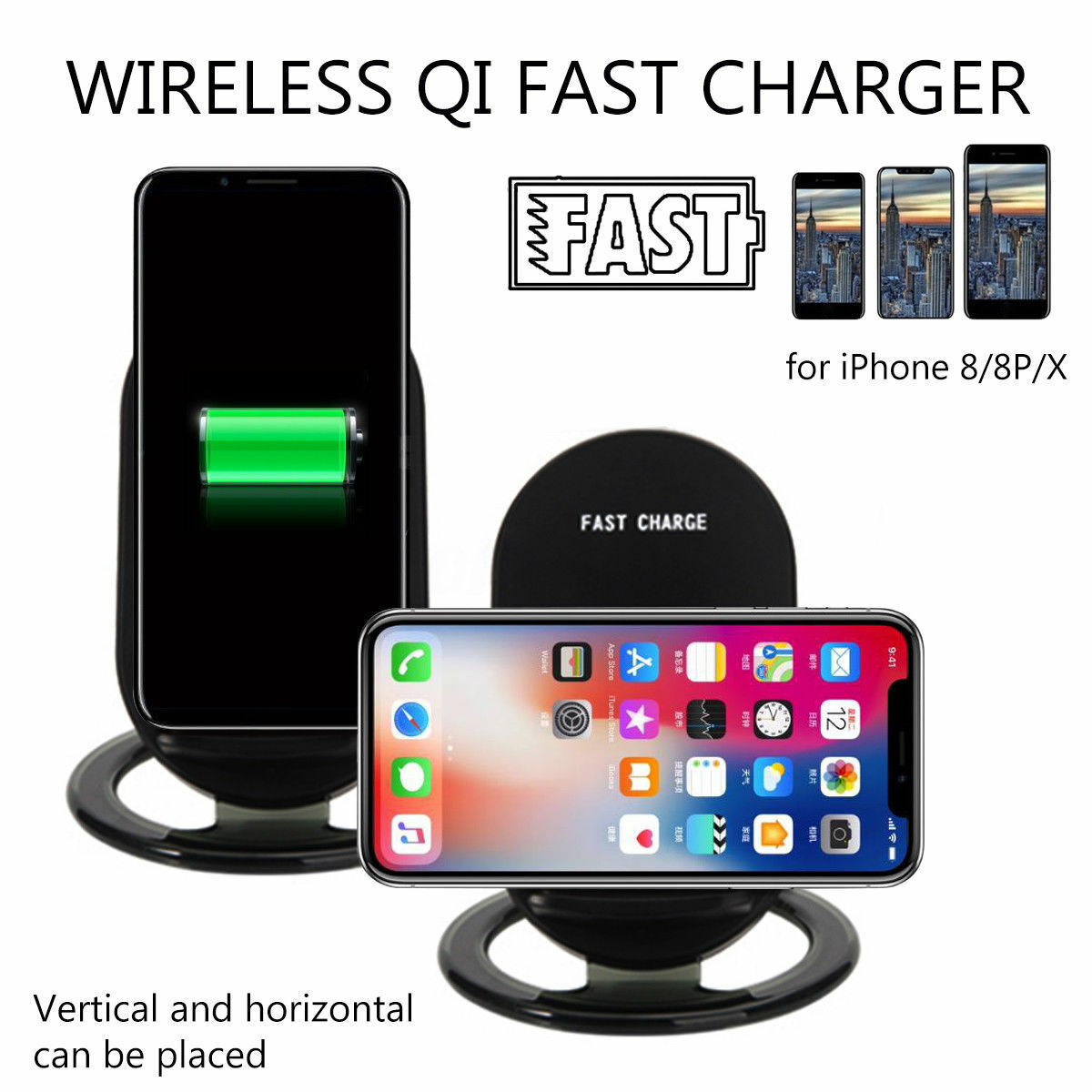neu qi wireless charger stand induktive ladestation. Black Bedroom Furniture Sets. Home Design Ideas