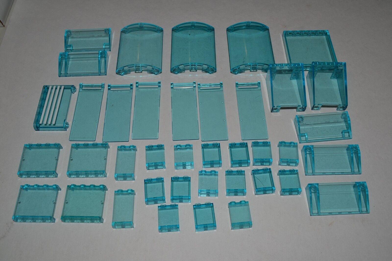 Lego Lot of Transparent Trans-blu Panels Walls Parts Windows Ice ADKO