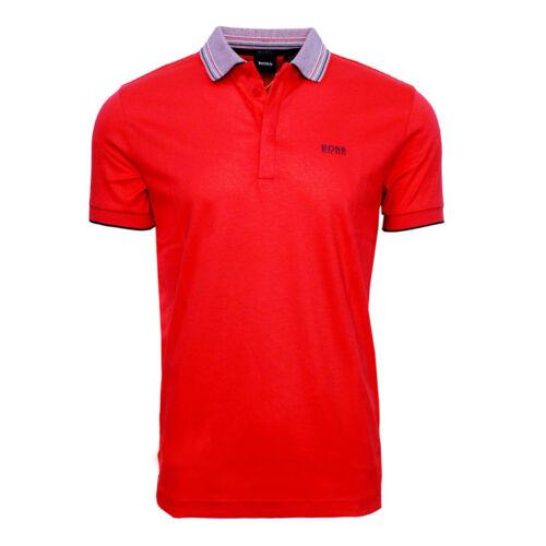 Hugo Boss Interlock-cotton polo shirt with multi-coloured collar 50424198 620