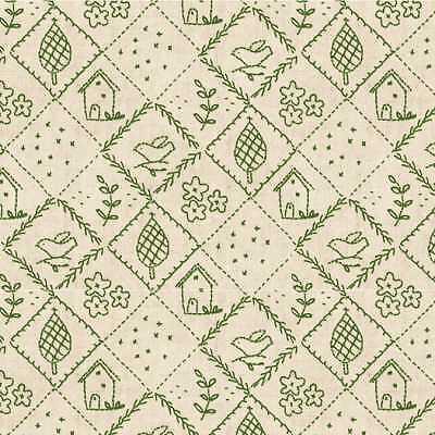 Cotton Fabric Blend Walnut Hill Farm by Charlotte Lyons 104 101 03 4 Hill Top
