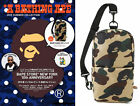 A Bathing Ape Camo Crossbody Bag Bape Messenger Purse Pack Sling Shoulder Bag