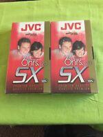 2 Jvc Vhs Sx Premium Quality Tape 6 Hours Mode 120 Minute