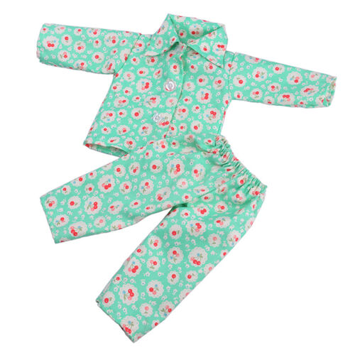 Handmade Puppe Kleidung Pyjamas Nachtwäsche für 18 Zoll Girl Puppen Supply