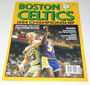 1984-Boston-Celtics-NBA-Championship-Official-Souvenir-Book-Bird-McHale-Parish