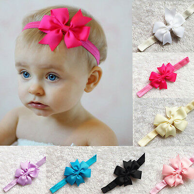 HOT Baby Girls Toddler Cute Flower Headband Hair Bow Band Headwear Accessories