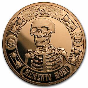 1 oz Copper Round - Memento Mori