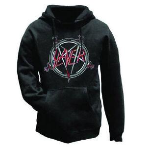 con nera Slayer ufficiale Pentagram cappuccio da Felpa uomo wt44z5q