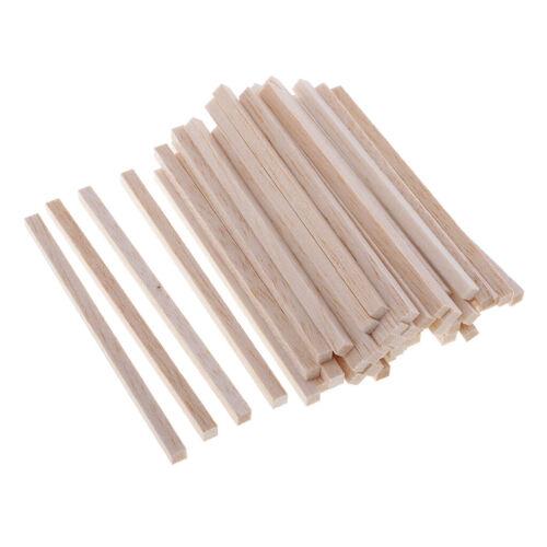 50 Stück Square Bastelhölzer Sticks Holzstäbchen für DIY Handwerk für