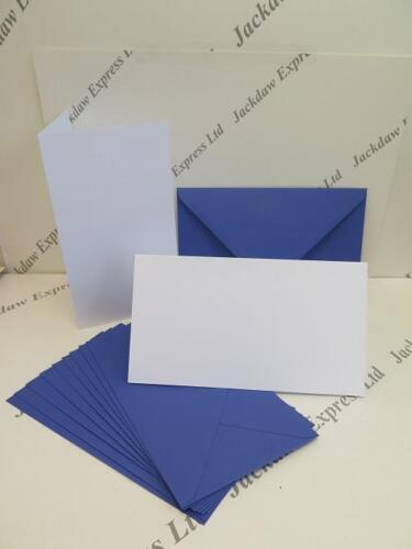 "10 Blue Envs 235x133mm AM13 10 x Blank White Greeting Cards 5/""x9/"" 229x128mm"