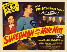 """Superman and the Mole Men Movie Poster Replica 11x14"""" Photo Print"""