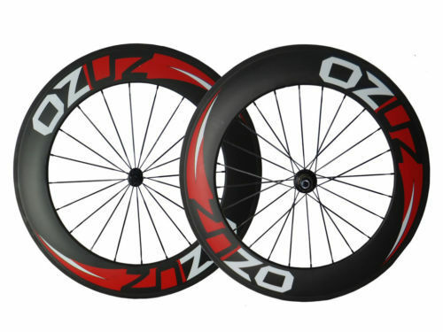 With Decals 88mm Clincher Tubular Carbon Wheels Road Bike Bicycle  Wheelset 700C  fast shipping to you