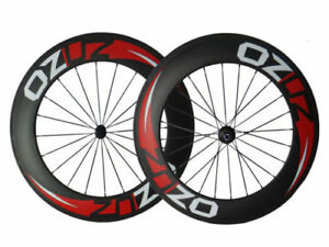 With-Decals-88mm-Clincher-Tubular-Carbon-Wheels-Road-Bike-Bicycle-Wheelset-700C