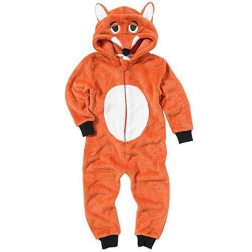Kids 1Onesie All in One Fleece Pyjamas Girls Boys Hooded Animal Cat Dog Unicorn