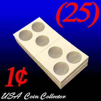 3-Hole Penny Size 2x2 Mylar Cardboard Coin Flips for StoragePaper Holder 15