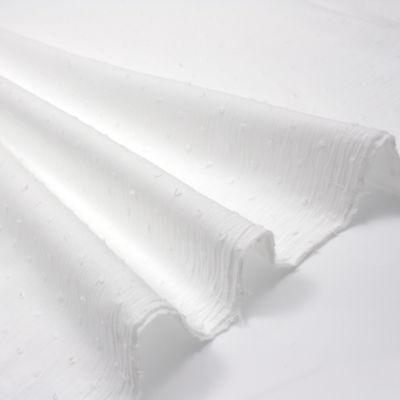 Punteada suizo Dobby Voile-Fino césped recortada Tela de algodón ligero Oeko-Tex