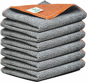 6-Packs-Microfibre-Dish-Cloths-Poly-Scour-Kitchen-Tea-Towels-30x30cm-Towelogy