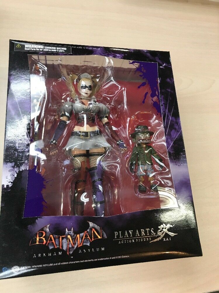 Batman Arkham Asylum Play Arts Kai Harley Quinn Action Figure - Square Enix