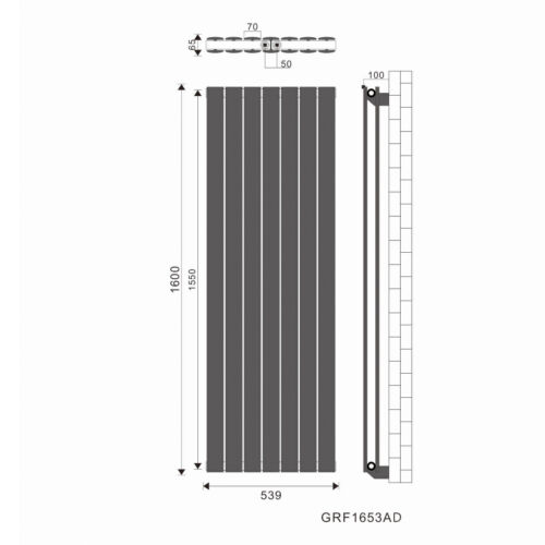 1600x539mm Paneelheizkörper Flachheizkörper Badheizkörper Heizwand Doppellagig