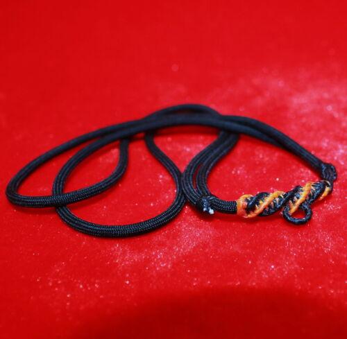 Adjustable wax robe necklace for Pendant Locket Asian Amulet unisex handmade B1