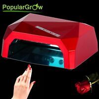 Populargrow 36w Ccfl&led Uv Nail Lamp Gel Curing Polish Dryer Light With Timer