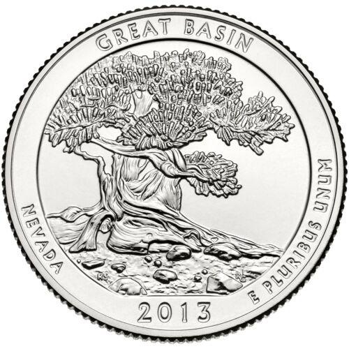 2013 D Great Basin Nevada America the Beautiful BU from Quarter US Mint Roll