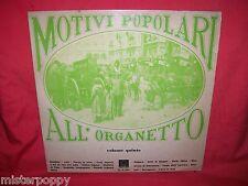 MOTIVI POPOLARI ALL'ORGANETTO Vol.5 LP 1975 ITALY MINT-