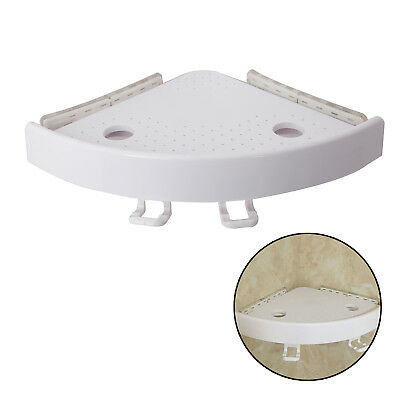 Bathroom Snap Up Corner Shelf Rack Triangle Grip Bath Storage Wall Mount Holder