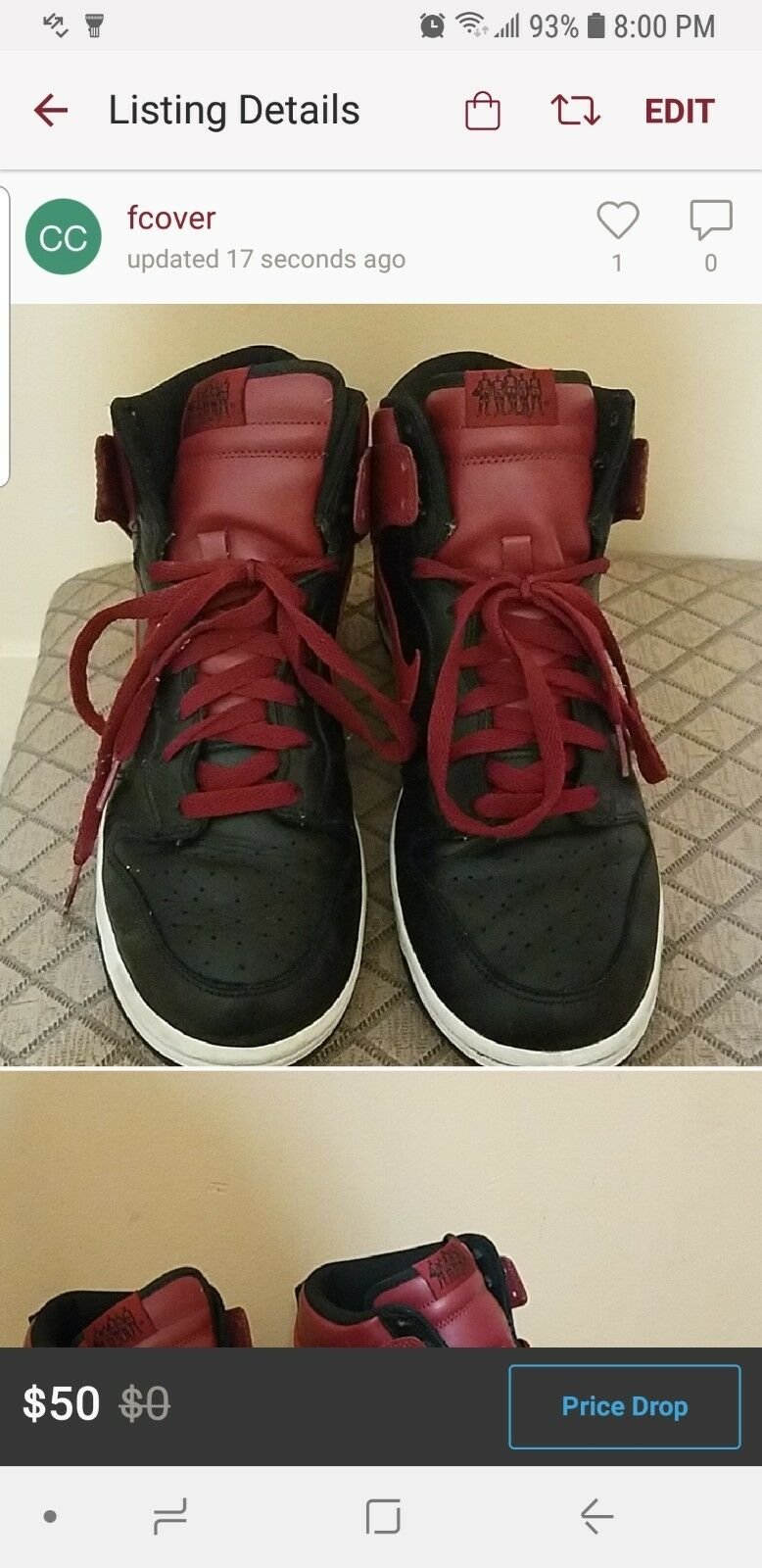 Mens sneakers Nike dunk size 10.5