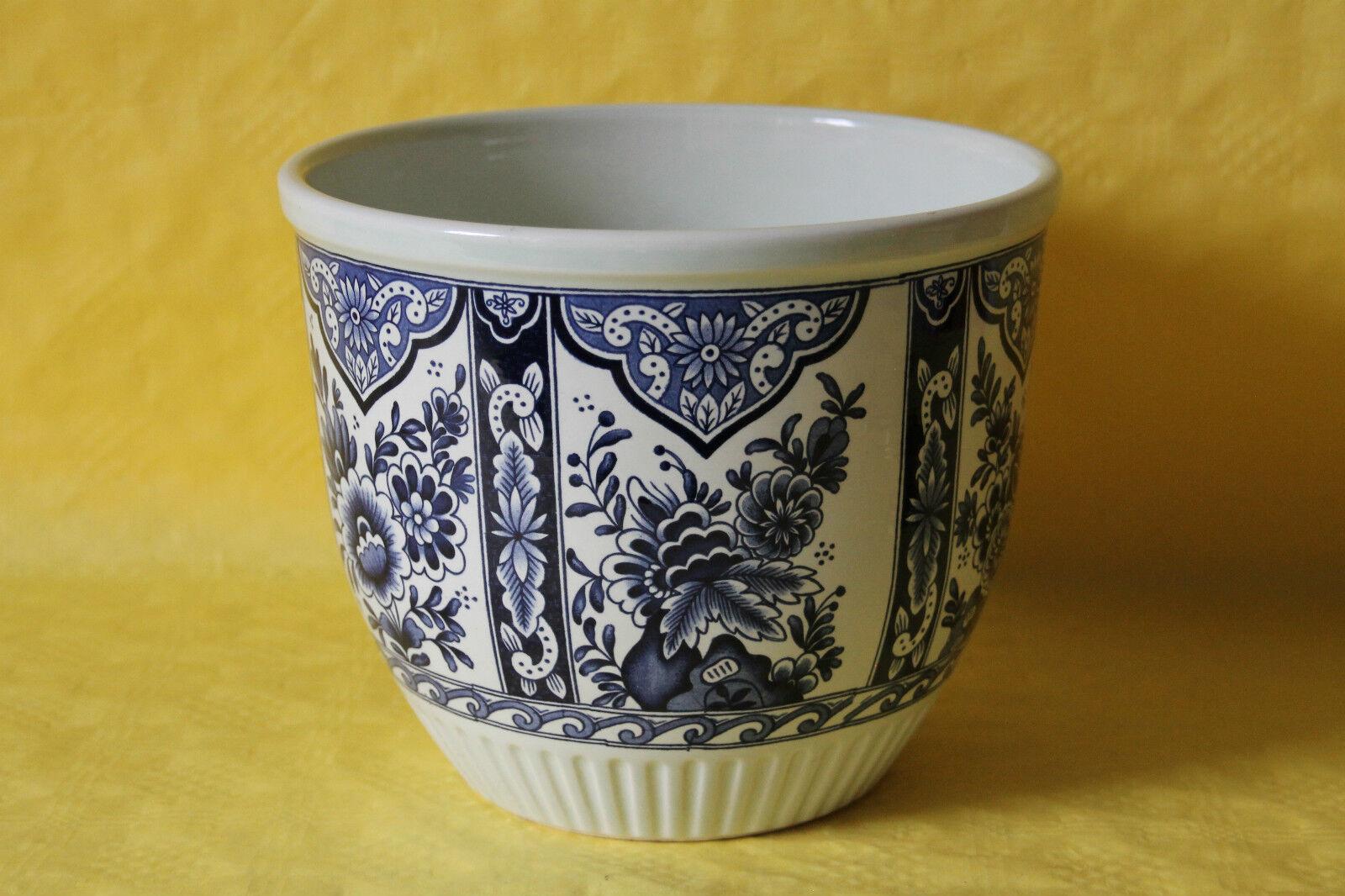 Zauberhafter Blaumentopf Übertopf Boch Delfts Delfter Blau - Stil  21 cm
