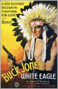 1932 Blanc Aigle Buck Jones Affiche Du Film Réplique 13x19 Photo Imprimé Une Grande VariéTé De ModèLes