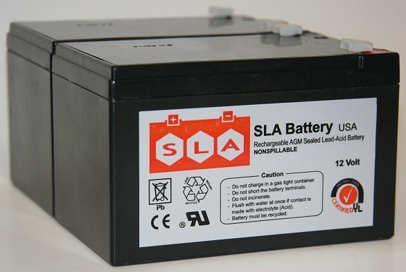 (2 Pack) - 12V 12Ah F2 Battery Replaces Rhino SLA10-12 T25, SLA 10-12 T25