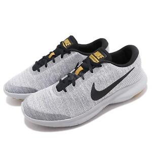 5818c193fa9614 Nike Flex Experience RN 7 White Black Grey Men Running Shoes ...
