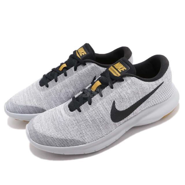 43d327336b3ec Nike Flex Experience RN 7 White Black Grey Men Running Shoes Sneakers 908985 -101