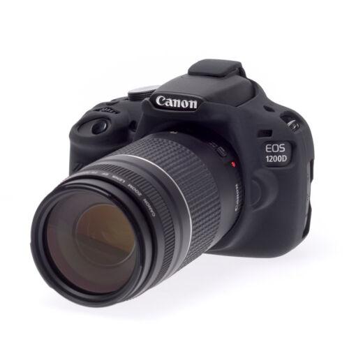 easyCover Canon 1200D / T5 EA-ECC1200DB Camera Case BLACK Silicone FREE US SHIP