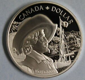 2008-CANADA-FOUNDING-OF-QUEBEC-PROOF-SILVER-DOLLAR-COIN-AND-COA