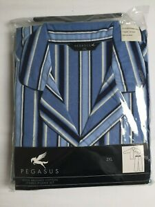MENS-STRIPED-CHUMS-BRUSHED-COTTON-FLANELETTE-PYJAMAS-MED-amp-XXL-BRAND-NEW