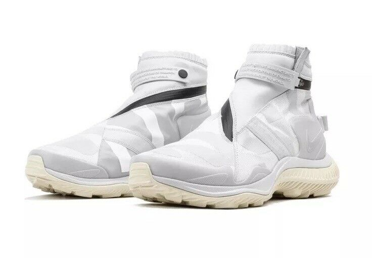 NEW Sz 9.5 Nike NSW NikeLab Sportswear Gaiter Boot Triple White AA0530-100