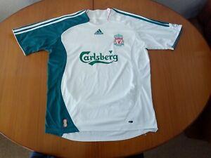 Liverpool Third Shirt 2006 2007 Size L Large White Green Adidas 2006/07