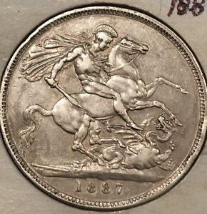 Great-Britain-Crown-1887-Victoria-Silver-Coin