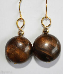 unique-retro-vintage-bead-chocolate-brown-EARRINGS-Jewellery